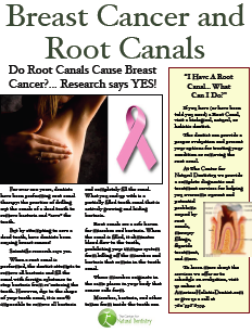 Root canals and breast cancer: The connection is clear